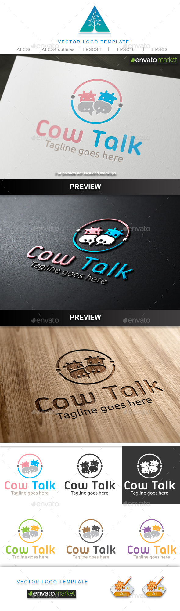GraphicRiver Cow Talk Logo 10040772