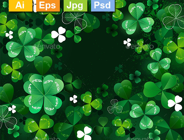 GraphicRiver Background with Shamrock 10041063