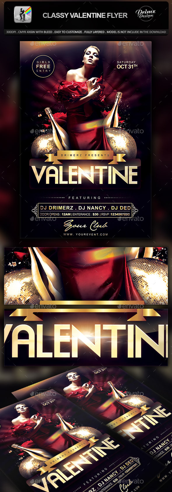 GraphicRiver Classy Valentine Flyer 10041215