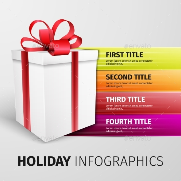 GraphicRiver Holiday Infographics 10041224