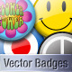 Vector Retro Pin Badges - GraphicRiver Item for Sale