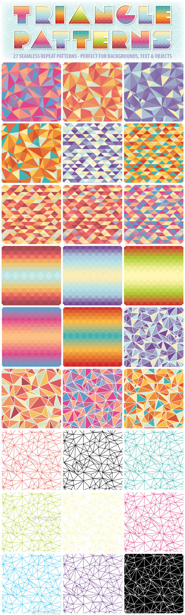 GraphicRiver Triangle Repeat Patterns 10041659