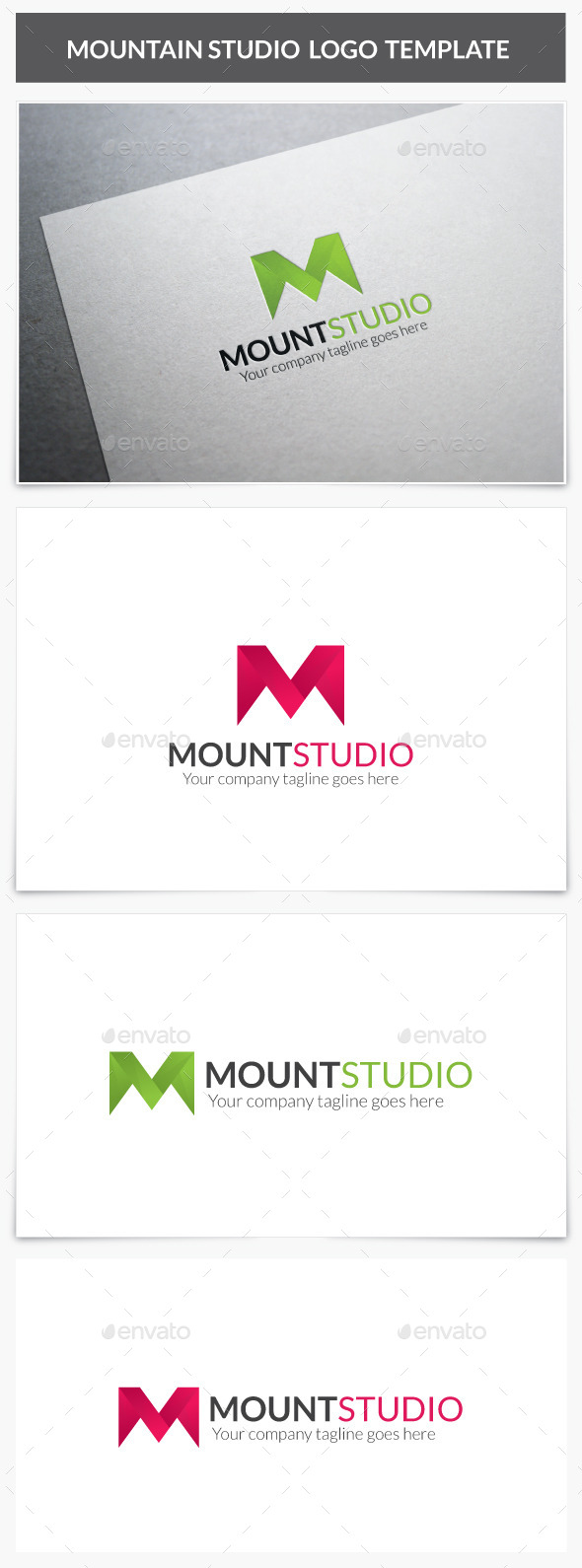 ... mountain studio logo 10041904 photoshop logo template letters