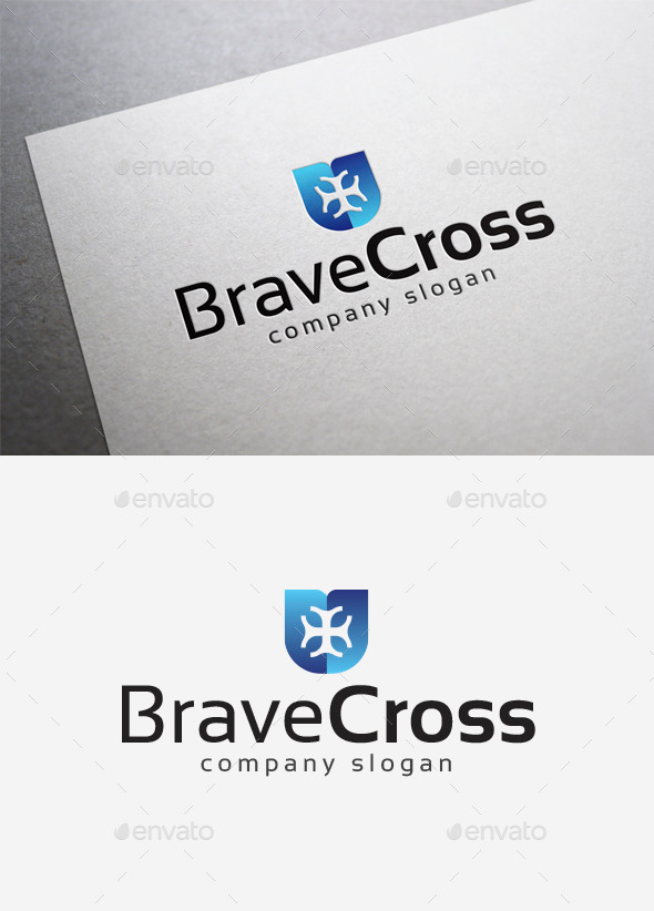 GraphicRiver Brave Cross Logo 10041970