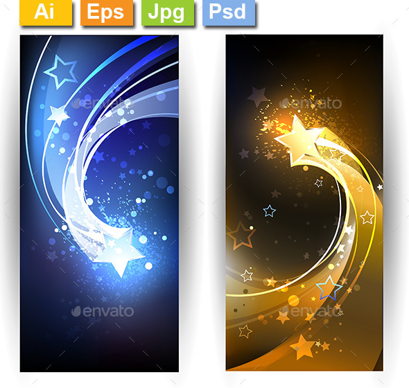 GraphicRiver Two Banners with Comet 10041999