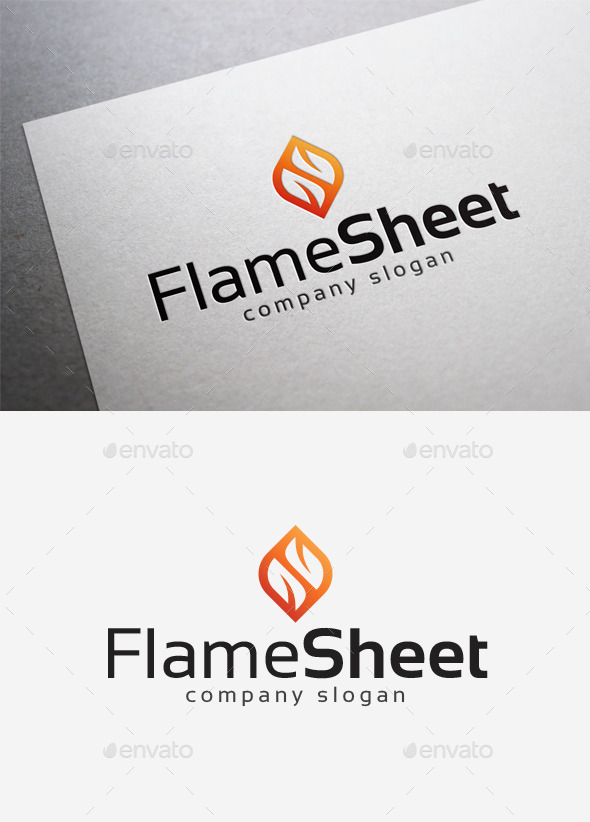 GraphicRiver Flame Sheet Logo 10042020