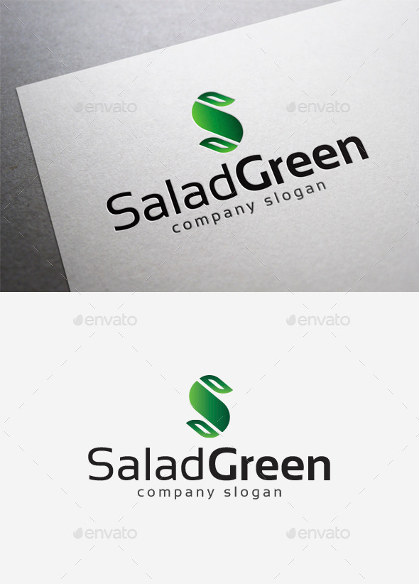GraphicRiver Salad Green Logo 10042114