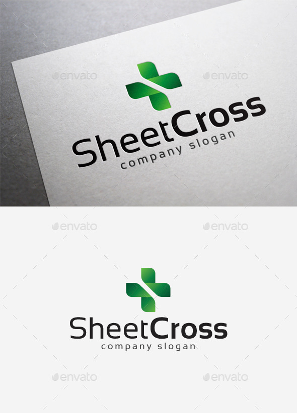GraphicRiver Sheet Cross Logo 10042126