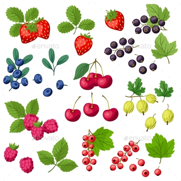 GraphicRiver Set of Berries 10042128