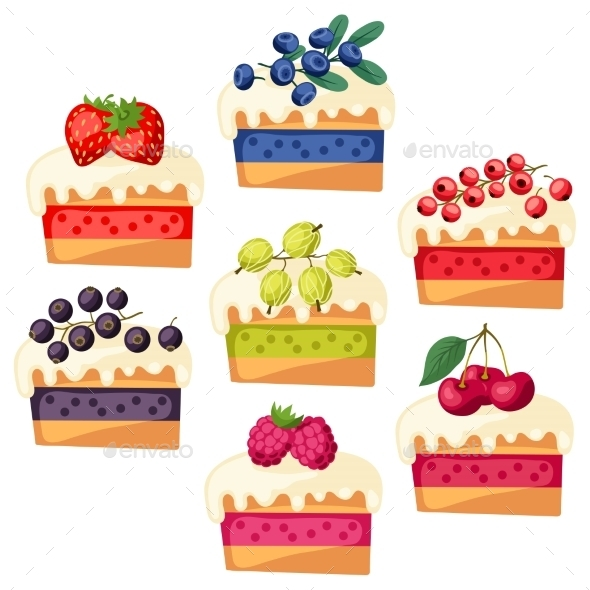 GraphicRiver Cakes with Various Fillings 10042129