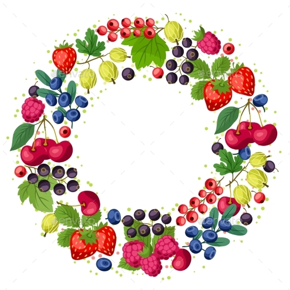GraphicRiver Berries Frame 10042139
