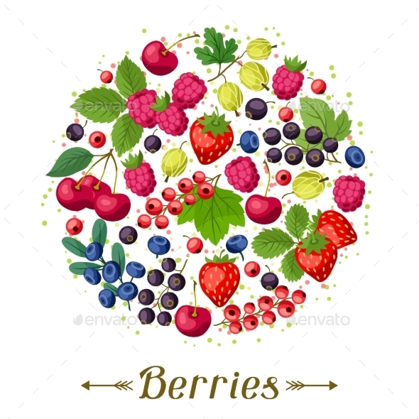 GraphicRiver Berries Background 10042142