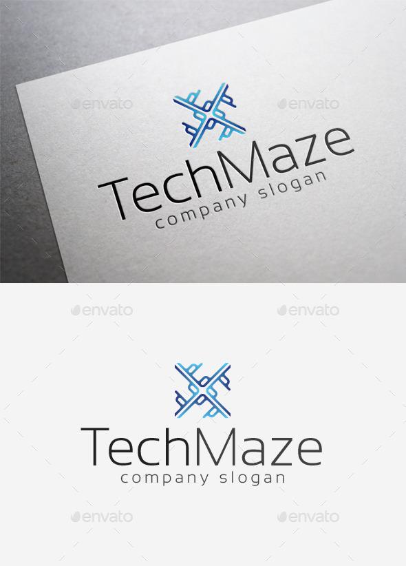GraphicRiver Tech Maze Logo 10042143