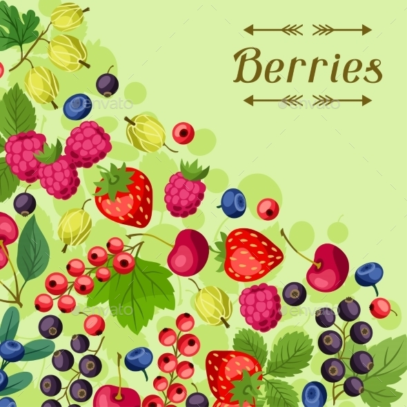 GraphicRiver Berries Background 10042144