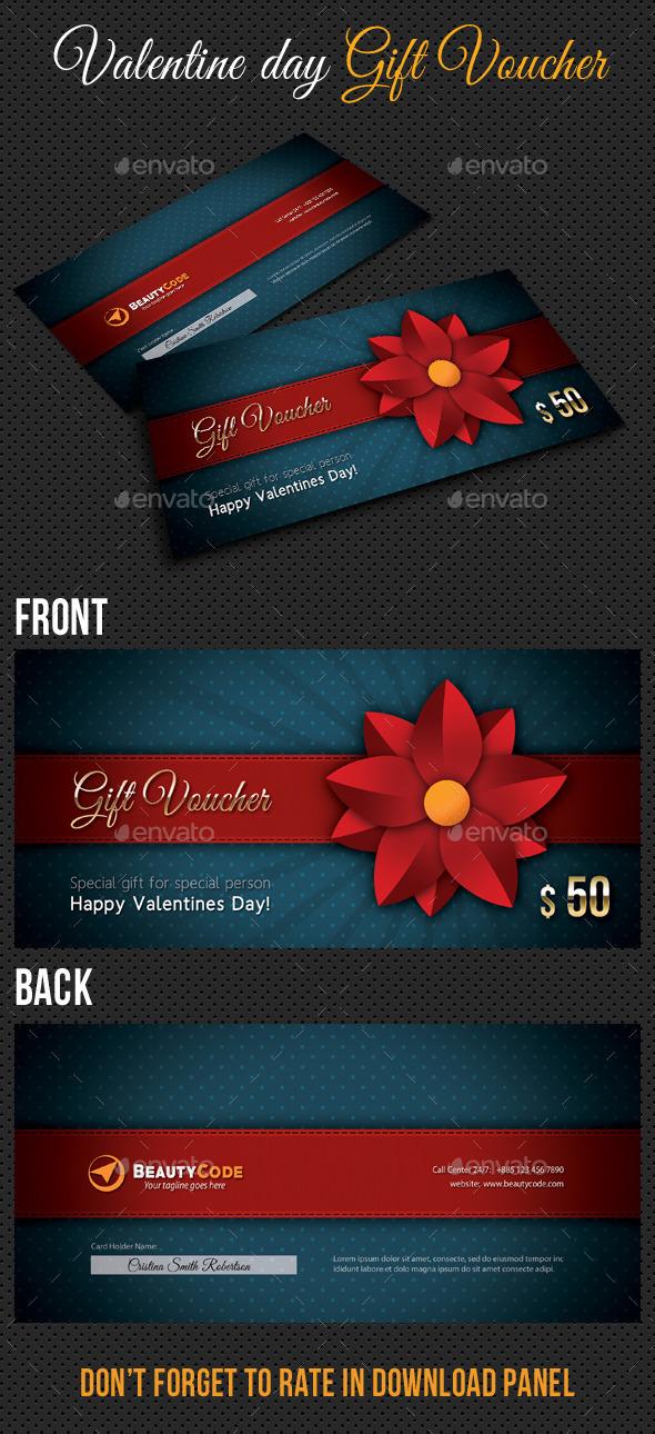 GraphicRiver Valentine Gift Voucher V02 10042149