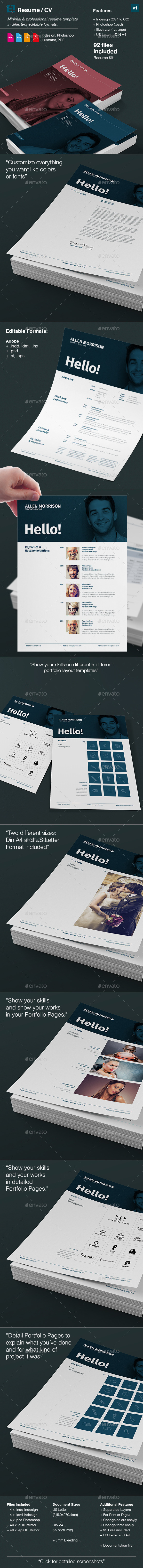 GraphicRiver Regulaar Resume and CV 10026674
