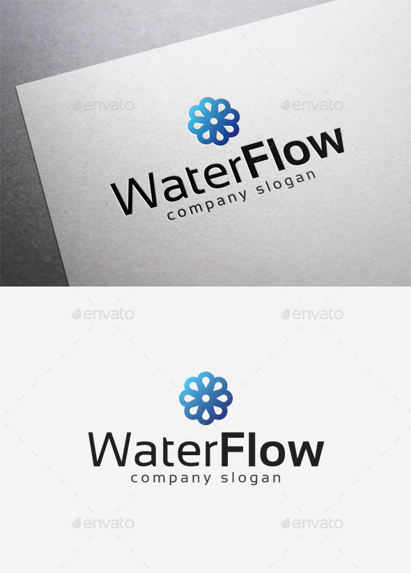 GraphicRiver Water Flow Logo 10042190
