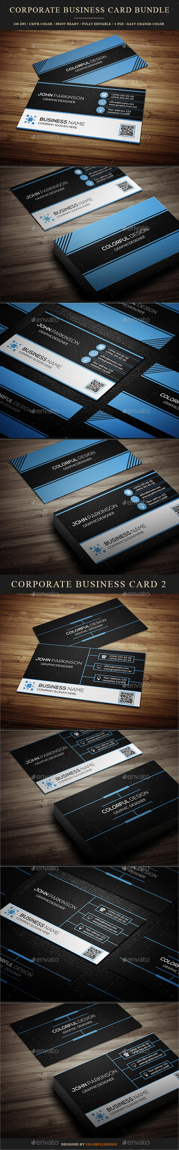 GraphicRiver Corporate Business Card Bundle 10042196