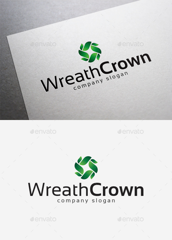 GraphicRiver Wreath Crown Logo 10042201