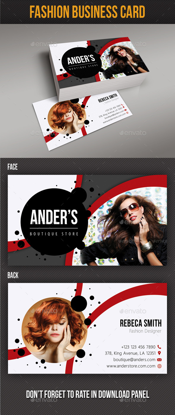 GraphicRiver Fashion Business Card 09 10027788