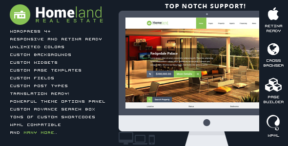 Homeland - Responsive Real Estate WordPress Theme - Real Estate WordPress