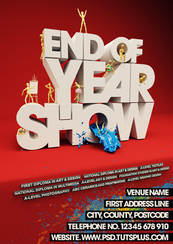 TutsPlus Create an Event Poster with C4D and Photoshop 127063