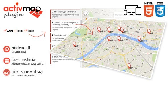 CodeCanyon Activ Map JQuery Plugin Responsive GMaps 10036421