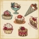 Cakes in Retro Style - GraphicRiver Item for Sale
