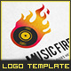 Flame DJ - Logo Template - GraphicRiver Item for Sale