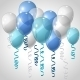 Background with Flying Balloons and Serpentine - GraphicRiver Item for Sale