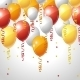 Background with Balloons and Serpentine - GraphicRiver Item for Sale