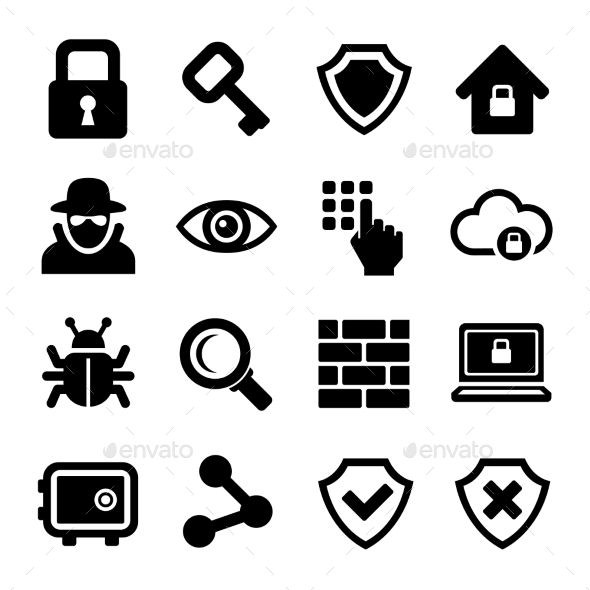 GraphicRiver Security Icons Set 10043098