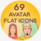 Avatar Flat Icon Set - GraphicRiver Item for Sale