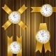 Set of Gold Watches and Ribbon - GraphicRiver Item for Sale