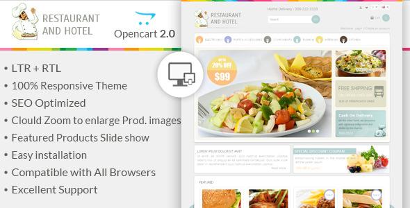 Restaurant - Responsive OpenCart Theme