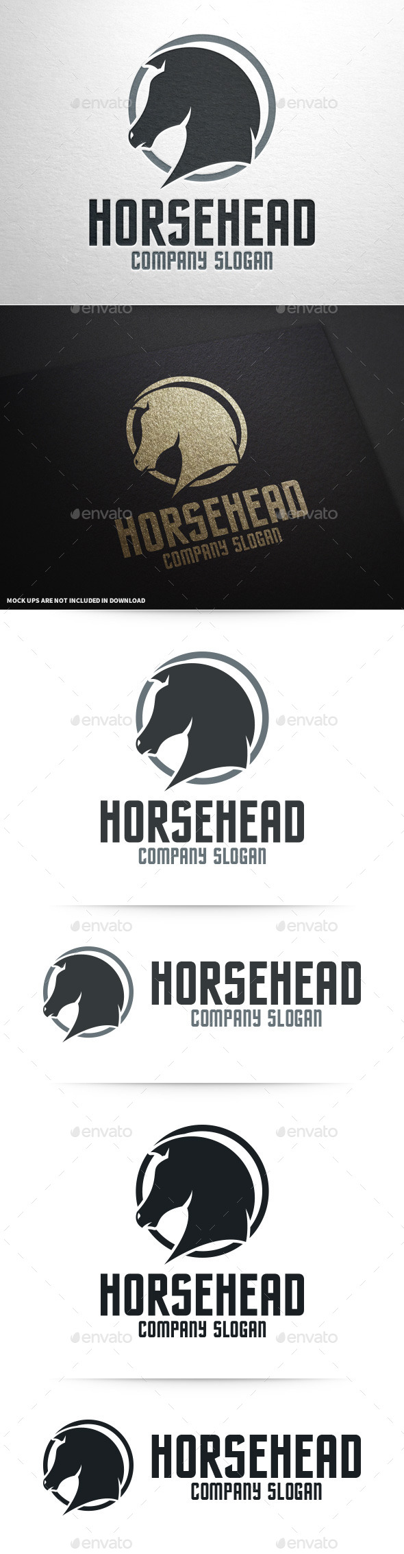 GraphicRiver Horse Head Logo Template 10045788