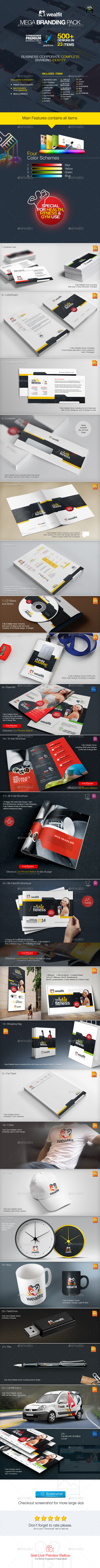 GraphicRiver WealFit Fitness Gym Branding Identity Pack 10026113