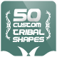 50 Custom Tribal Shapes - GraphicRiver Item for Sale