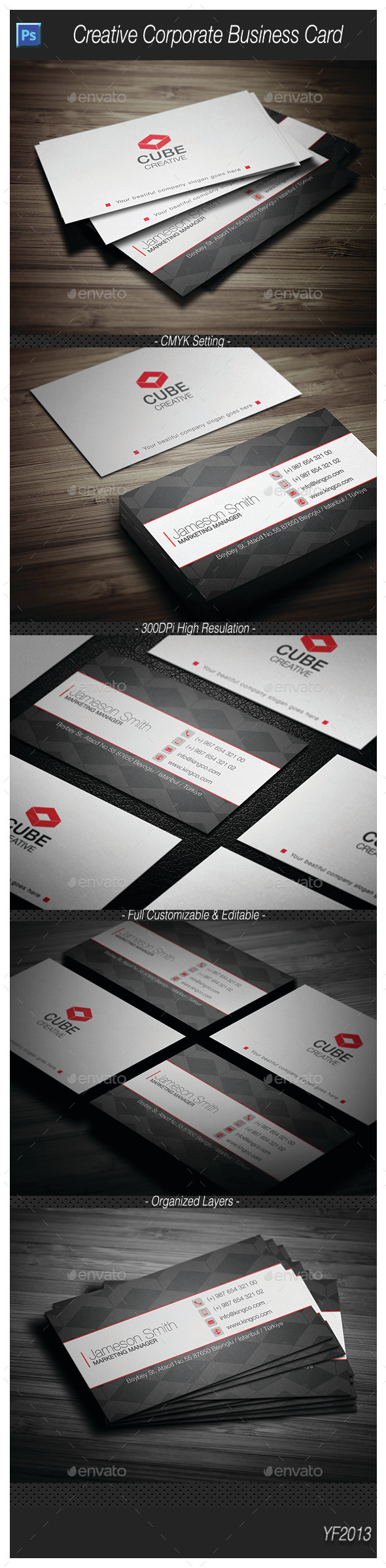 GraphicRiver Creative Corporate Business Card 1 10046243