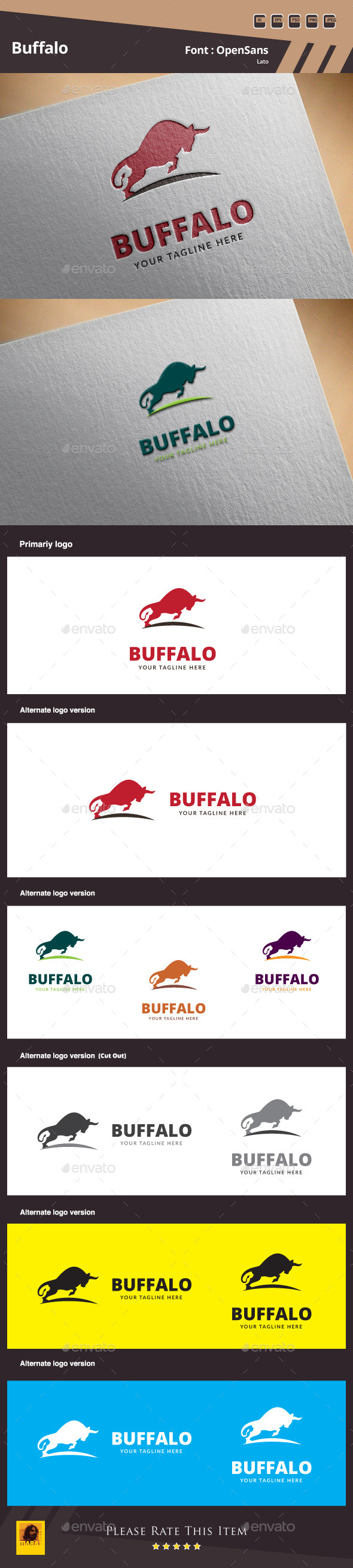 GraphicRiver Buffalo Logo Template 10046555