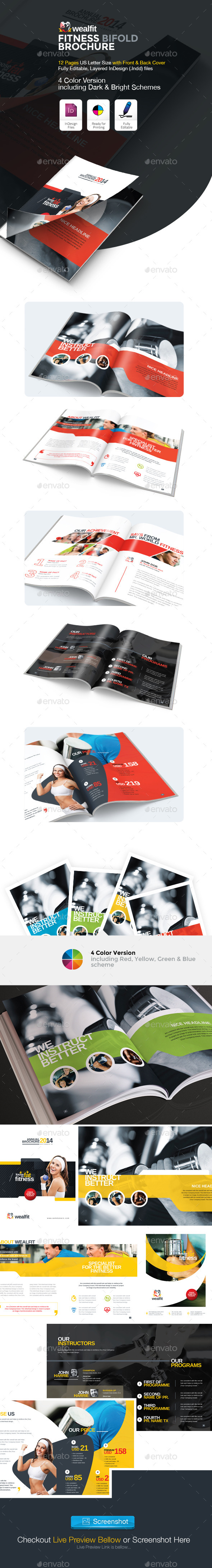 GraphicRiver WealFit Fitness Gym Bifold Brochure 10046659