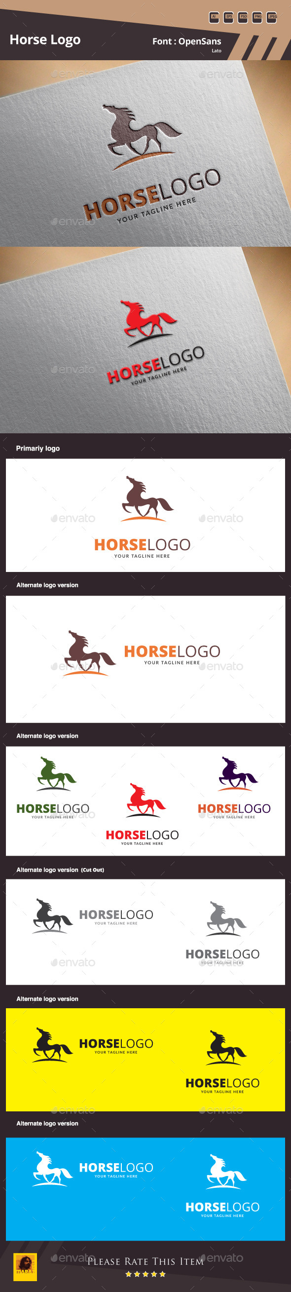 GraphicRiver Horse Logo Template 10046699
