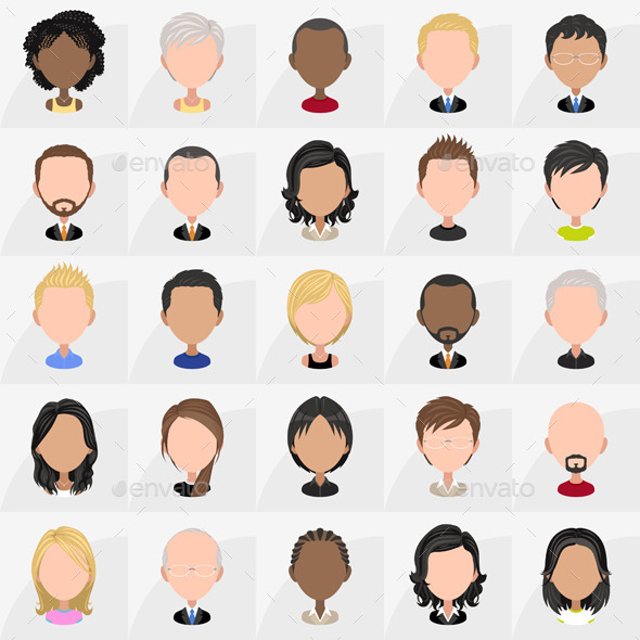 GraphicRiver Icons of People 10046826
