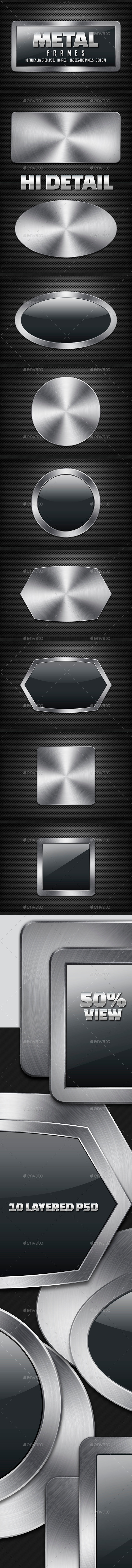 GraphicRiver Metal Frames 10046979
