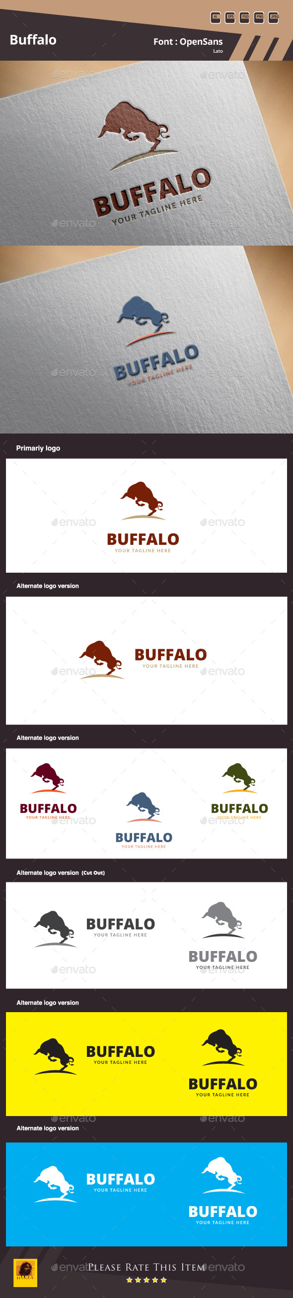GraphicRiver Buffalo Logo Template 10046993