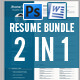 Resume Bundle 2 in 1 - GraphicRiver Item for Sale
