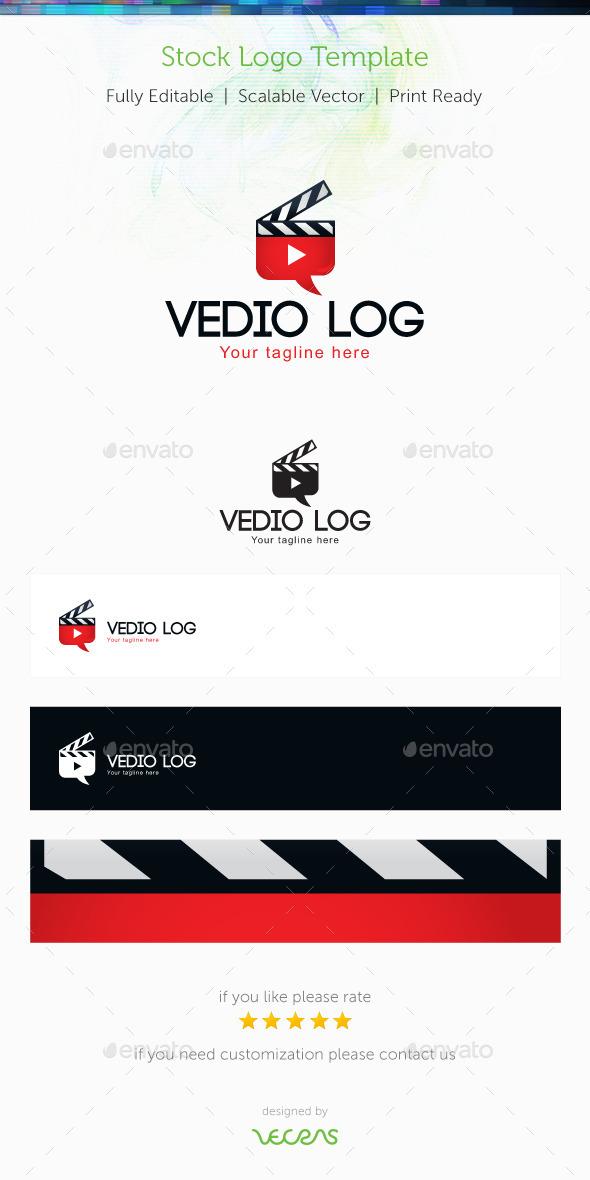 GraphicRiver Video Log Stock Logo Template 10047182