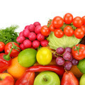 Collection of vegetables and fruits isolated on white background - PhotoDune Item for Sale