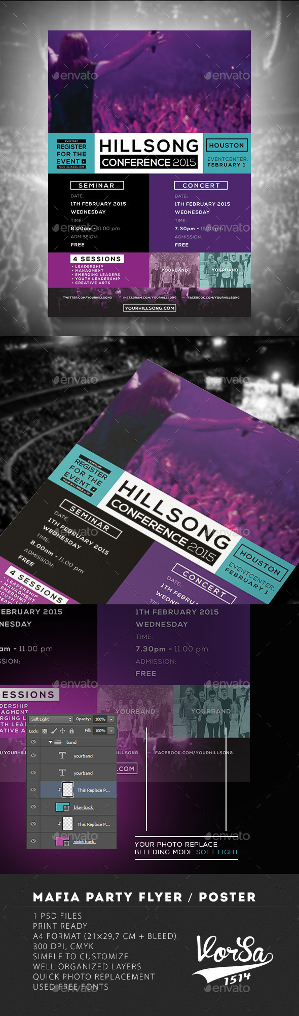 GraphicRiver Hillsong Conference Flyer 10000069