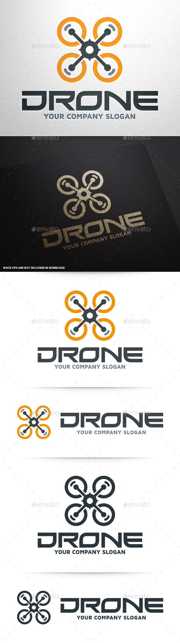 GraphicRiver Drone Logo Template 10047317